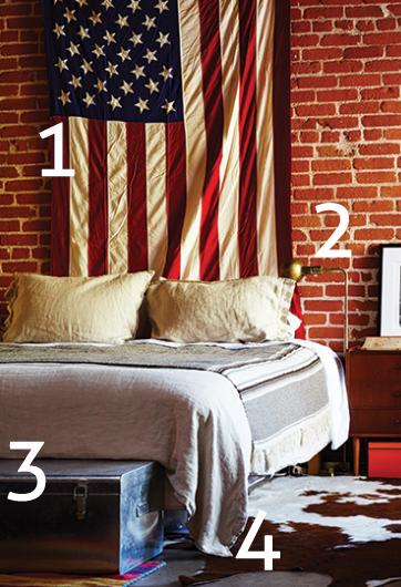 Vintage American Bedroom