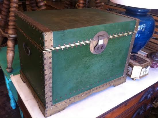 vintage green trunk