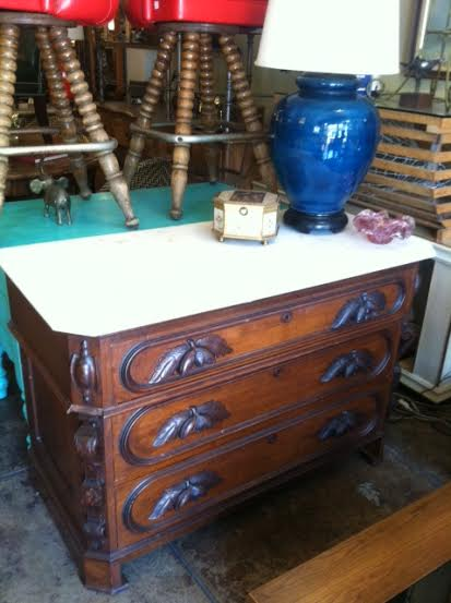 Dresser Turned Vanity Victorian Era With Marble