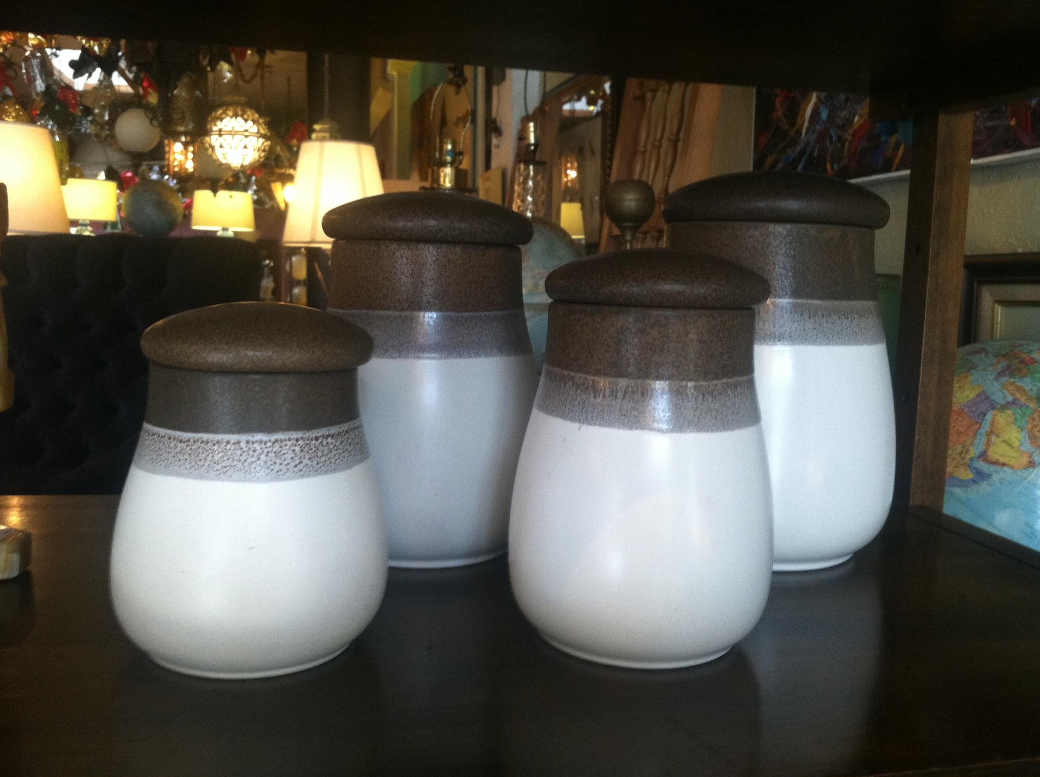 vintage stoneware decanters