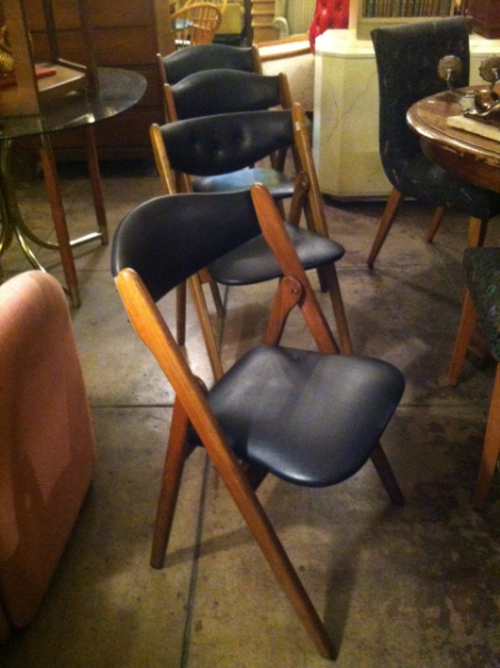 1960s modernist folding chairs