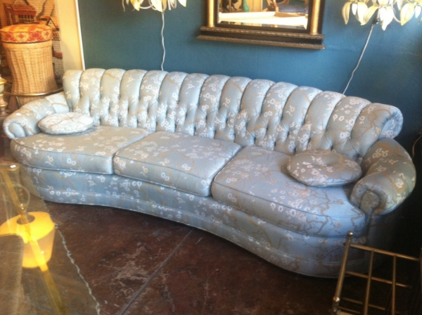 Old Hollywood Curved Sofa