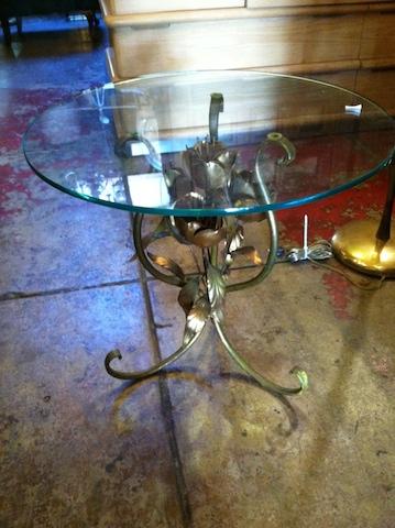 1950s Italian Metal Side Table