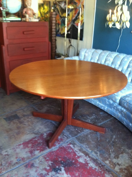 1960s Teak Pedestal Dining Table