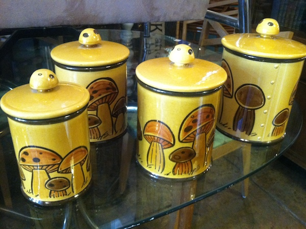 """Set of """"Poppy Field"""" Canisters by Metlox Pottery"""