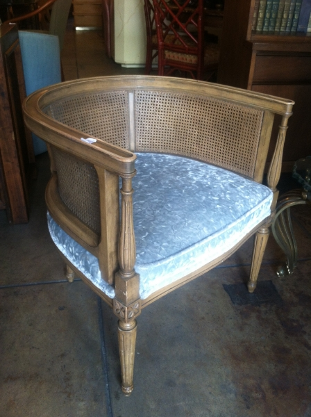 caned back regency chair