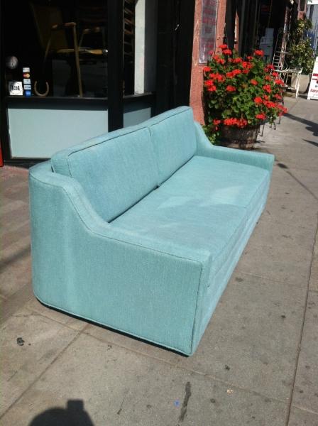 1960s Turquoise Sofa