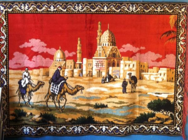 mid-century tapestry rug