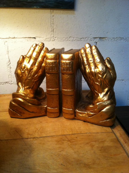 Set of Praying Hands Book Ends