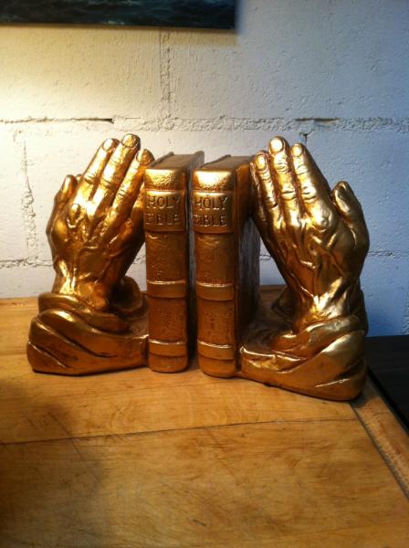 Praying Hands Book Ends