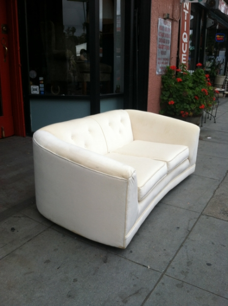 80s Cream Color Sofa