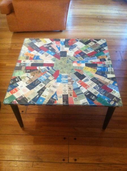 Mid Century Tramp Art Coffee Table