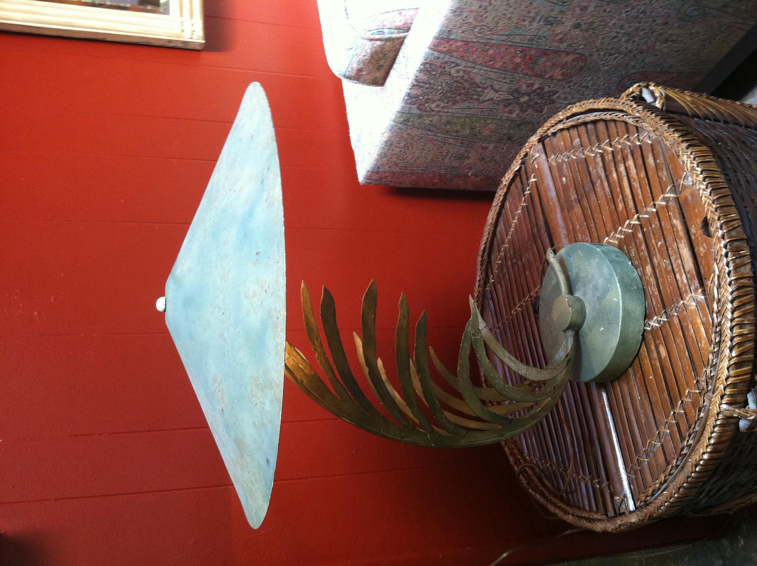 1950s Palm Leaf Lamp