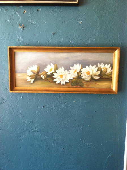 Painting of White Flowers