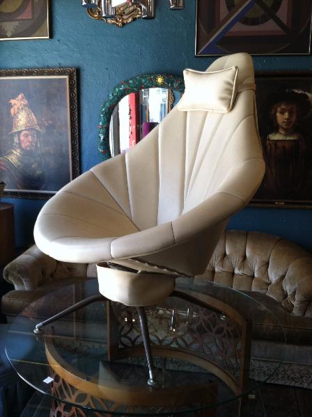 Mid-century Naugahyde Pod Chair