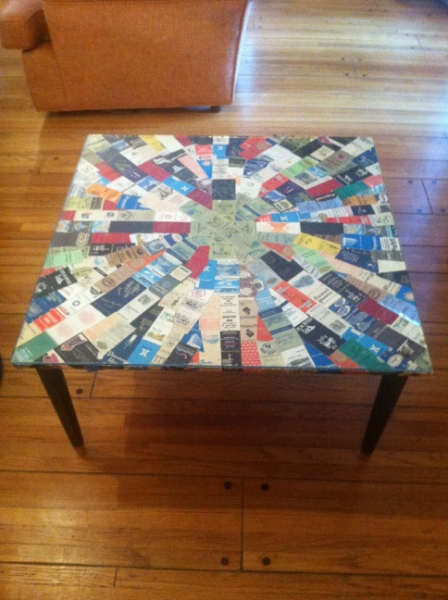 Mid-century Tramp Art Coffee Table