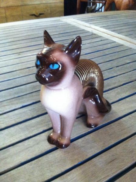 1967 Pottery Siamese Cat Letter Holder