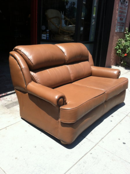 Full Grain Cowhide Love Seat