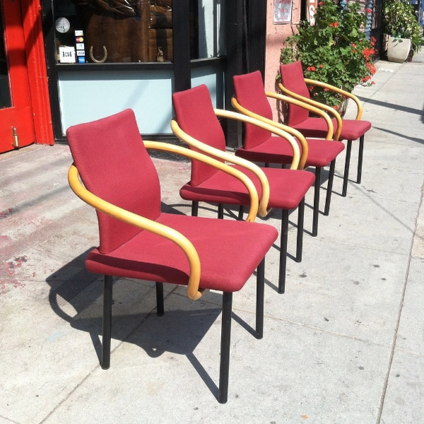 Set of four Mandarin Chairs by Ettore Sottsass Jr. for Knoll
