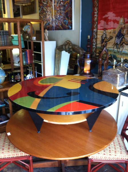 Colorful 80s Round Coffee Table