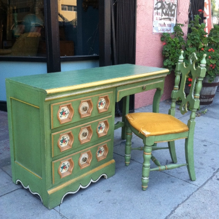 1970s Hacienda Style Desk and Chair