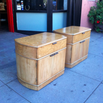 Pair of 1980s Deco Night Stands
