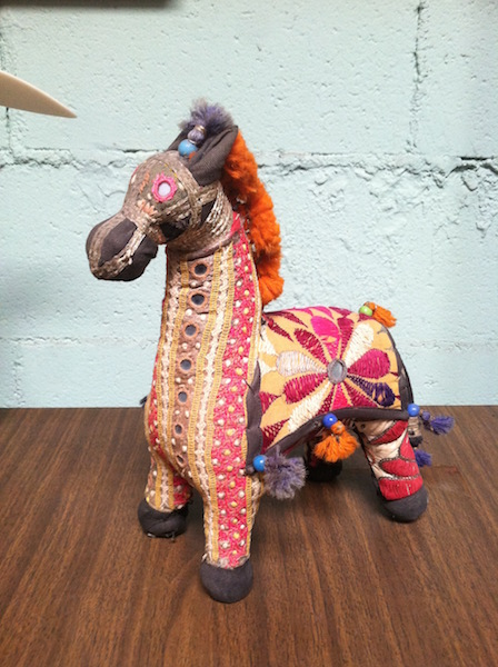 Hand woven horse from india