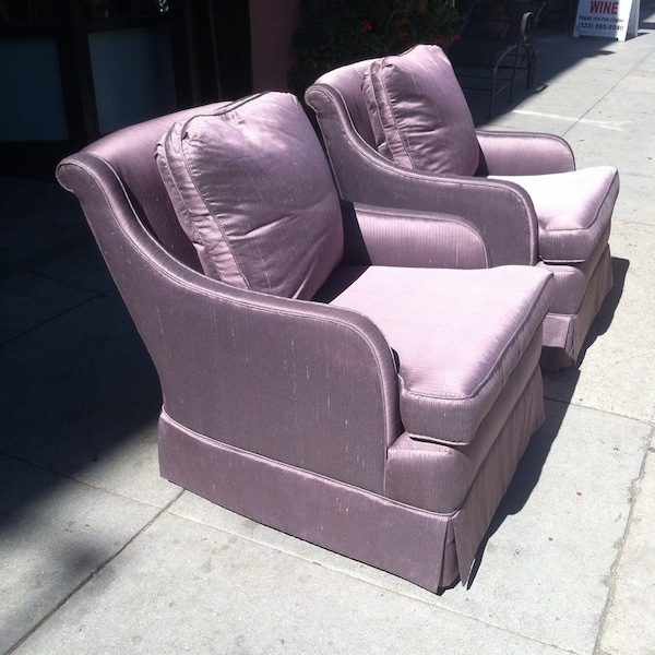 Pair of Purple Club Chairs