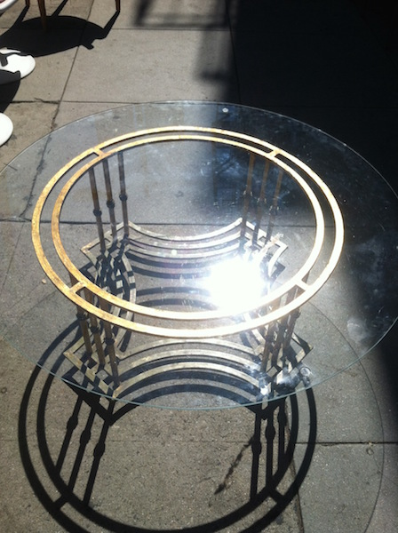 Gilded Metal Mid-Century Coffee Table