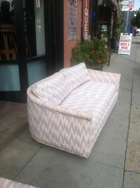Pair of Mid-century Zig Zag Love Seats