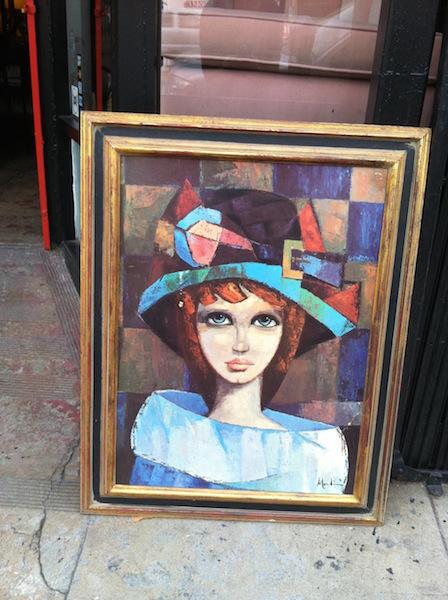 1960s Art Print of Girl with Big Eyes