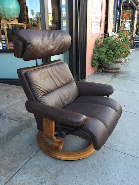 Leather Reclining Chair by Ekornes of Norway