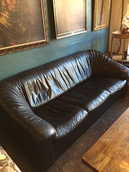 1980s Leather Italian Sofa