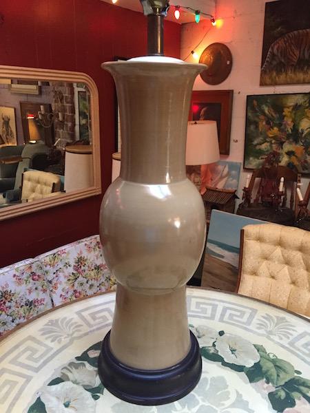 Mid-century Asian-style Pottery Lamp