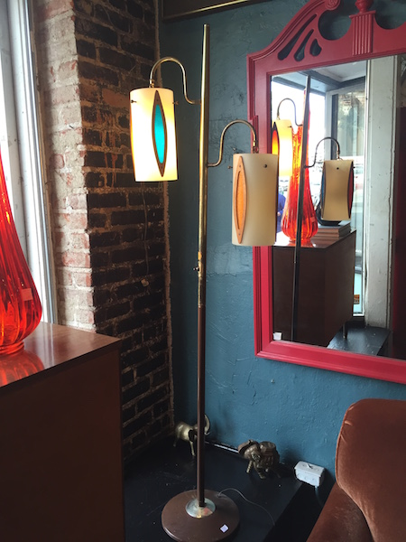 Mid-century Floor Lamp With Colorful Shades