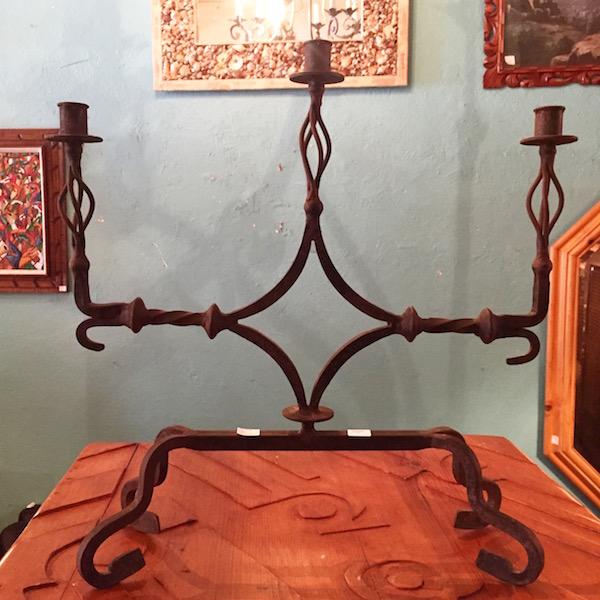 Vintage Iron Candelabra