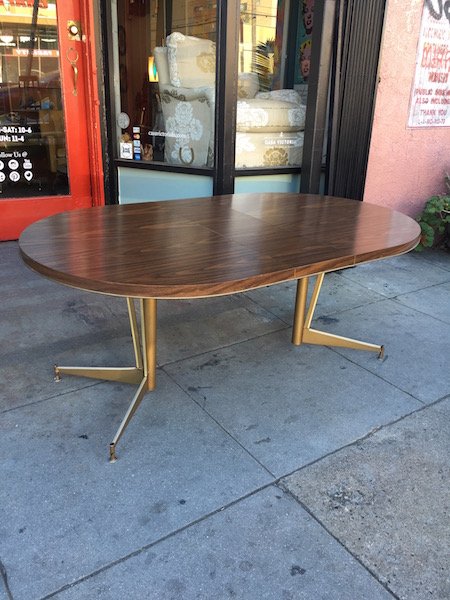 Mid-century dining table with laminate top