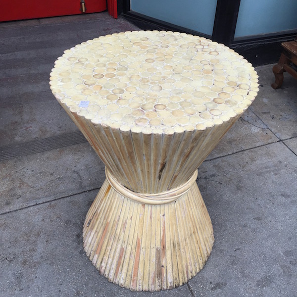 Vintage Bamboo Dining Table Base