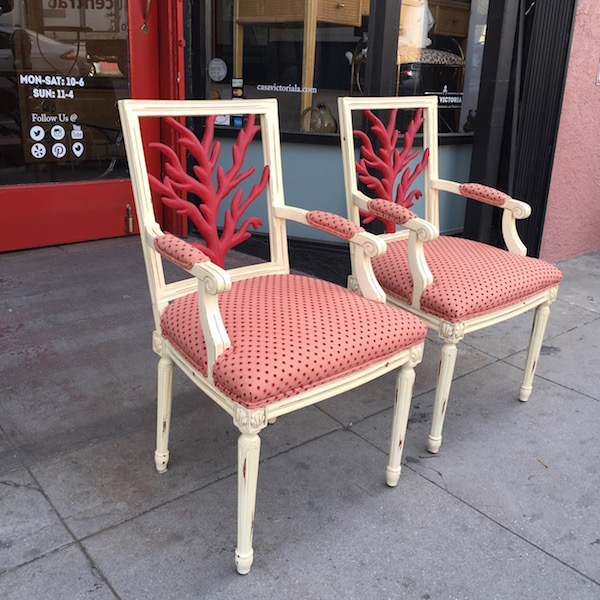 Pair of French Style Arm Chairs by LANE
