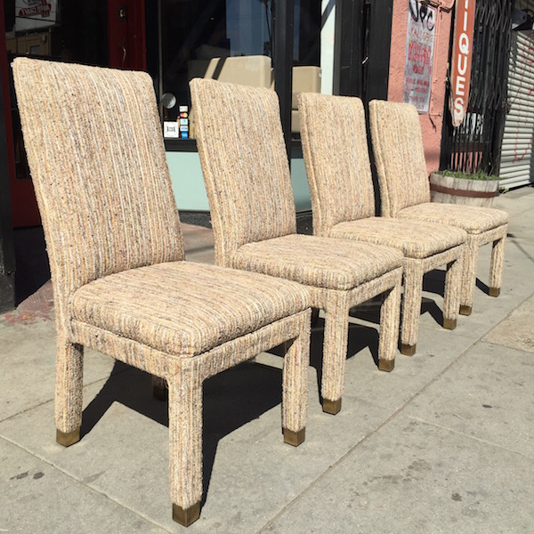 Four Fully Upholstered Dining Chairs by Henredon