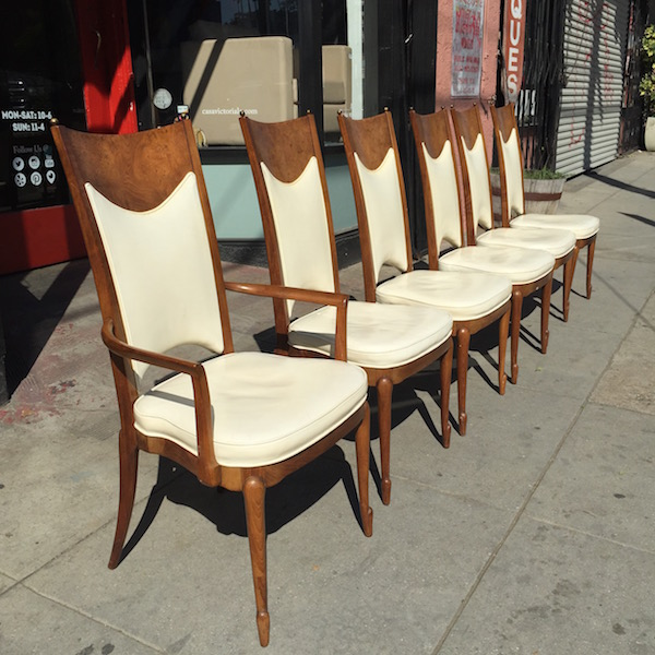 Set of 6 Mid-century Style High Back Chairs
