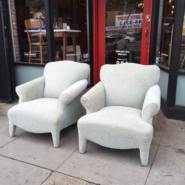Pair of 1980s Modern-style Chairs