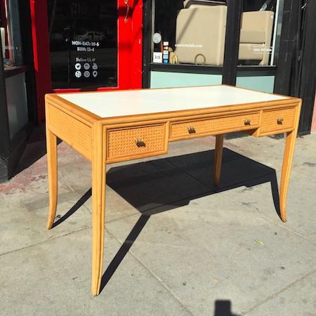 Rattan Desk by McGuire of San Francisco