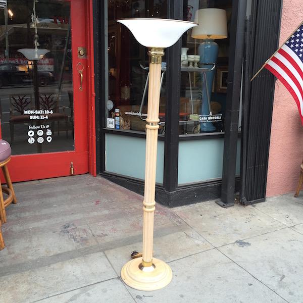 1980s Bamboo Floor Lamp
