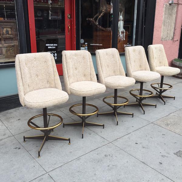 Set of Five Bar Stools