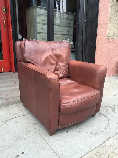 Italian Leather Club Chair
