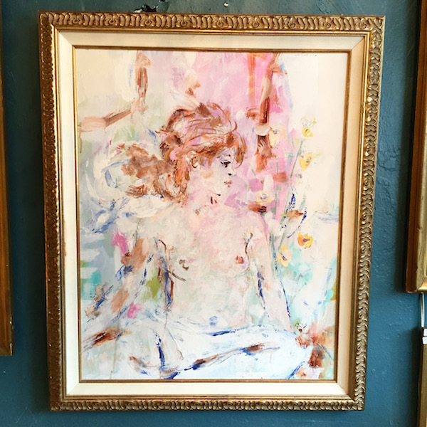 1960s Painting of a Nude Woman