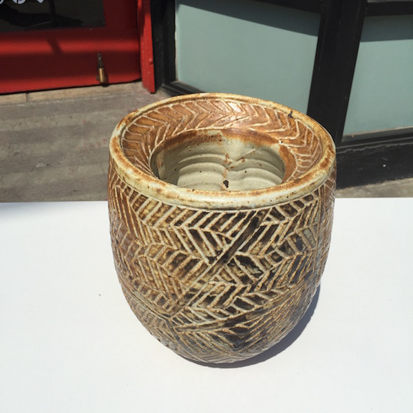 Vintage Stoneware Flower Pot
