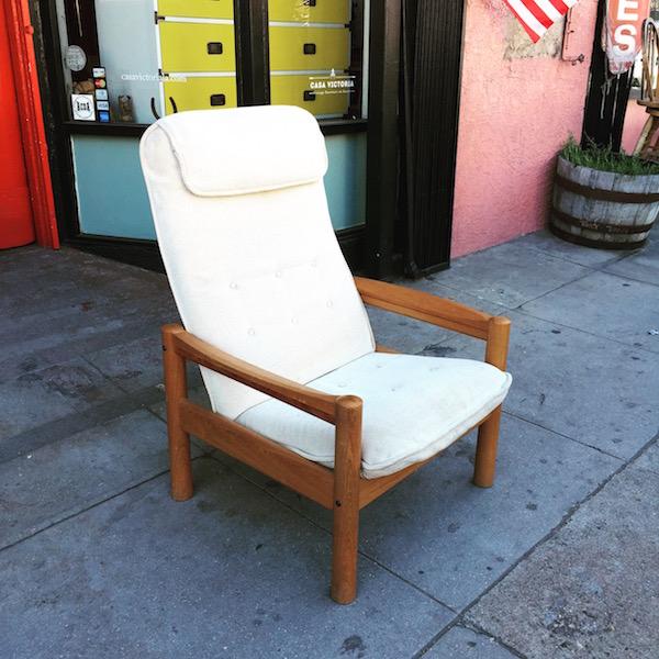 Vintage Teak Reading Chair by Domino Nobler