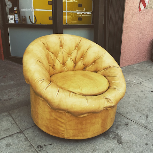 1970s Buttoned Pod Chair